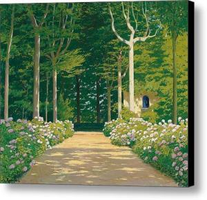 hydrangeas-on-a-garden-path-santiago-rusinol-i-prats